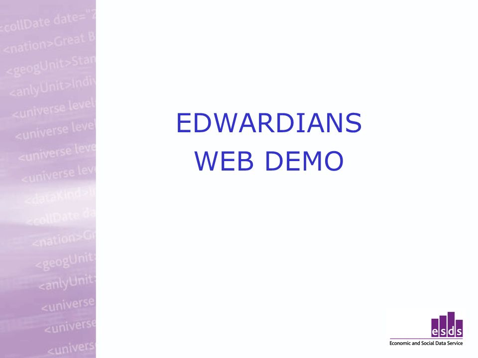 EDWARDIANS WEB DEMO