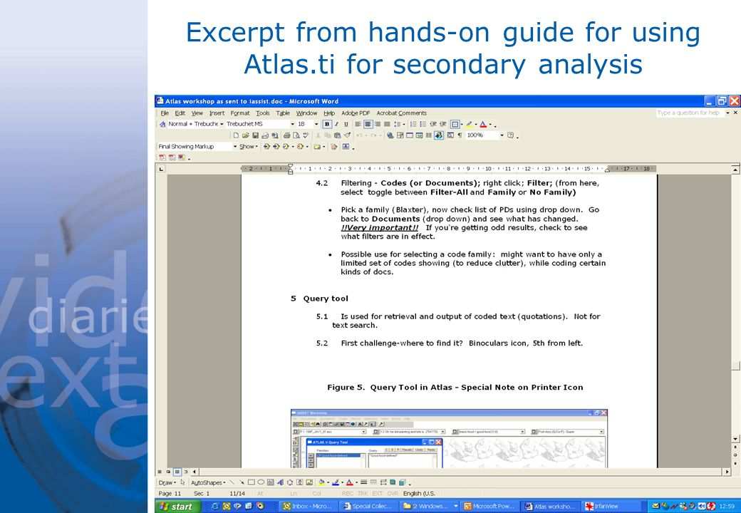Excerpt from hands-on guide for using Atlas.ti for secondary analysis
