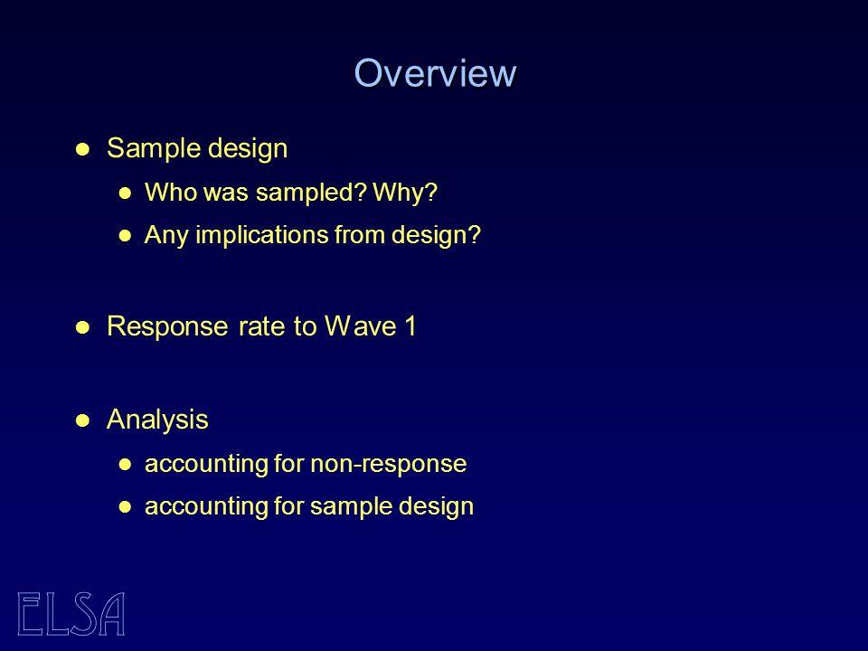 ELSA Example - design effects