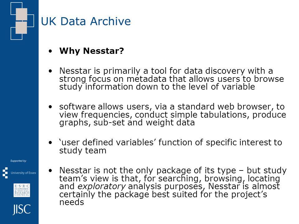 Why Nesstar.