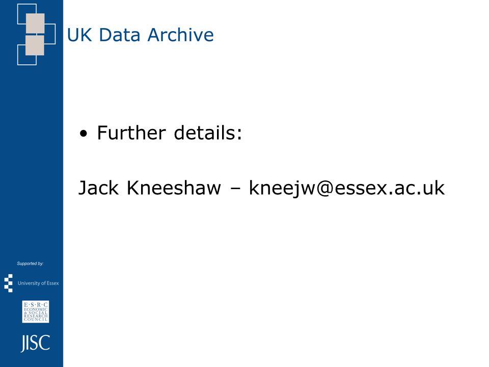Further details: Jack Kneeshaw – kneejw@essex.ac.uk