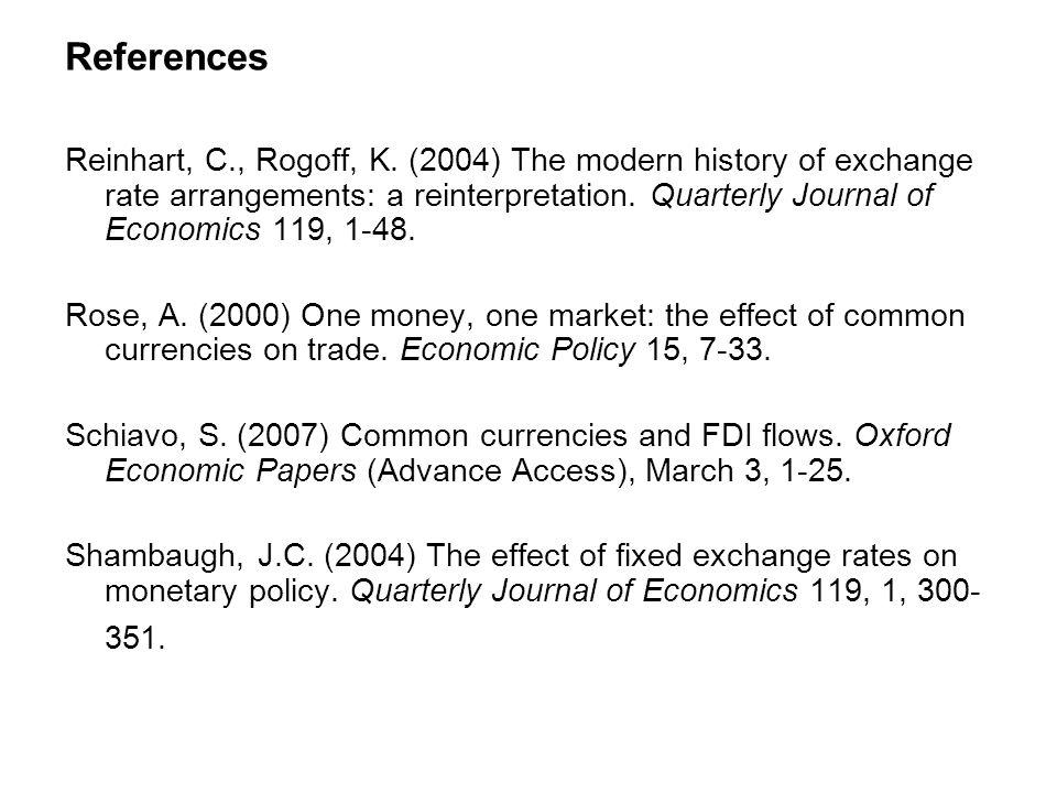References Reinhart, C., Rogoff, K.