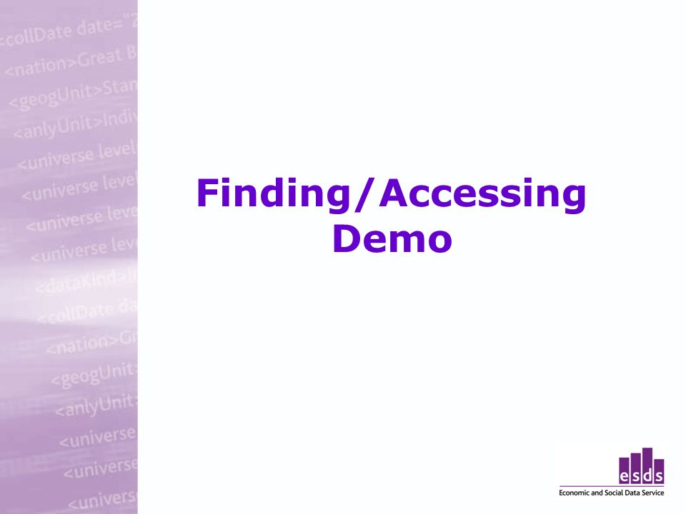 Finding/Accessing Demo