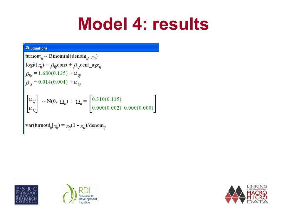 Model 4: results