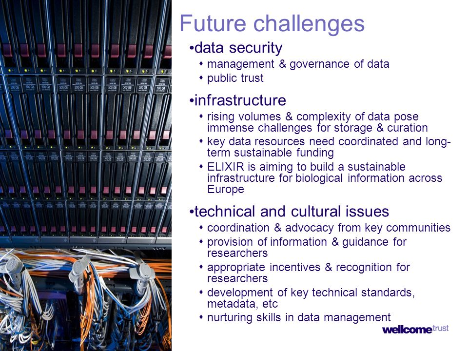 Future challenges data security management & governance of data public trust infrastructure rising volumes & complexity of data pose immense challenge