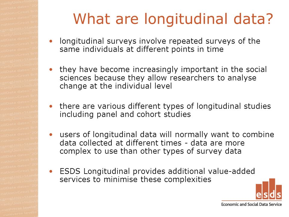 What are longitudinal data.