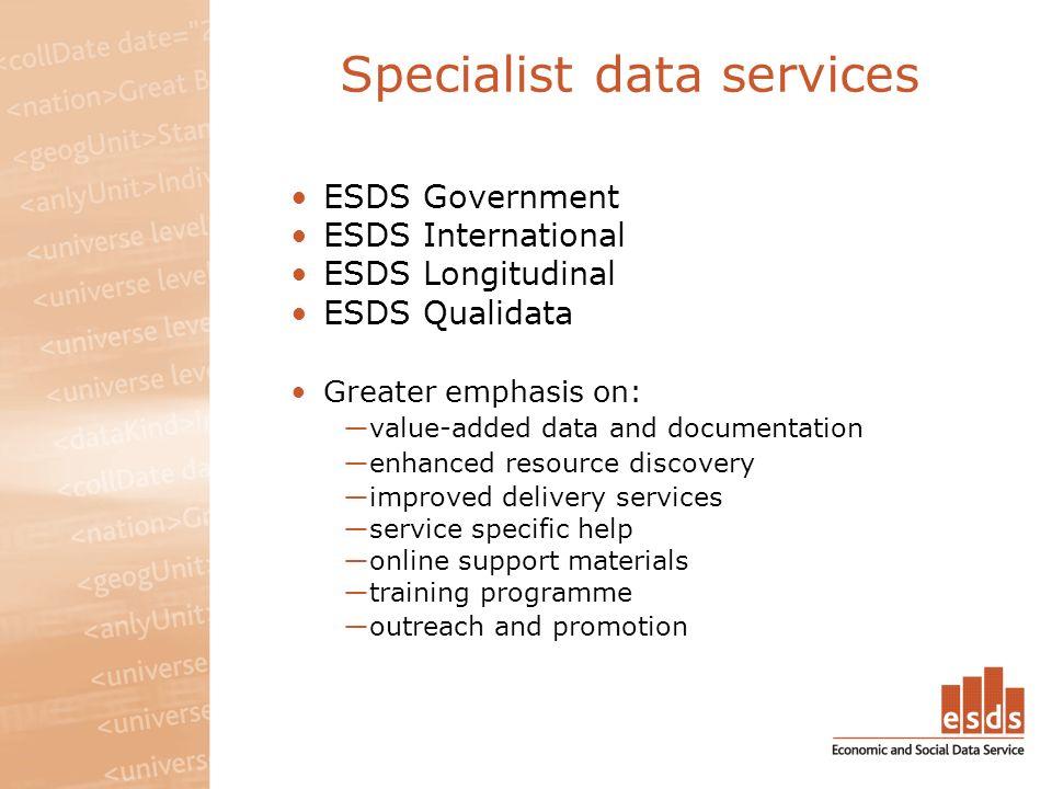 About ESDS Longitudinal