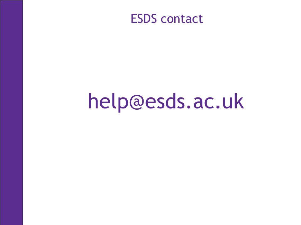 ESDS contact help@esds.ac.uk