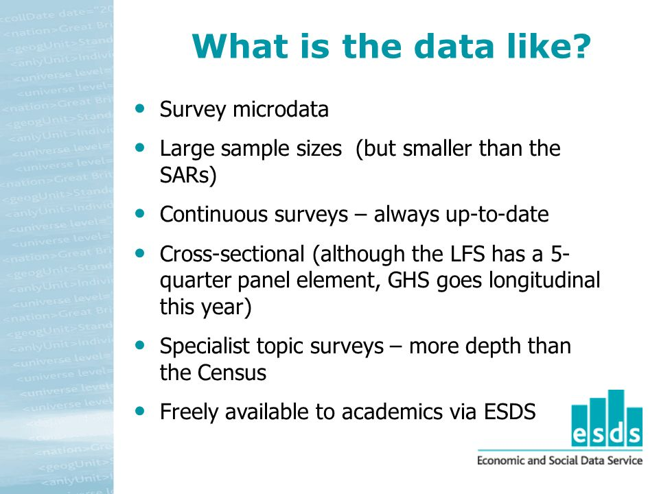 What is the data like.