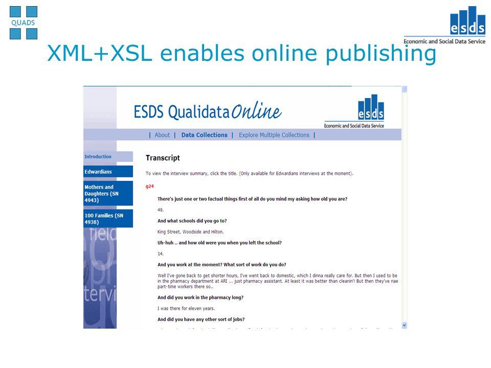 XML+XSL enables online publishing