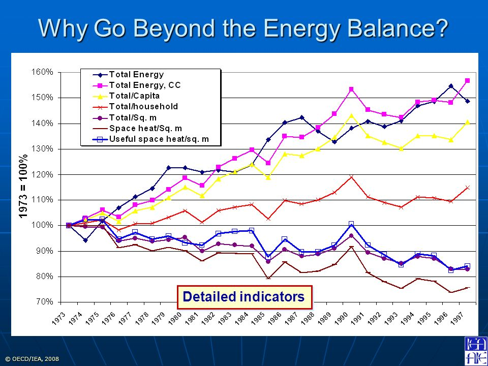 © OECD/IEA, 2008 Detailed indicators Why Go Beyond the Energy Balance