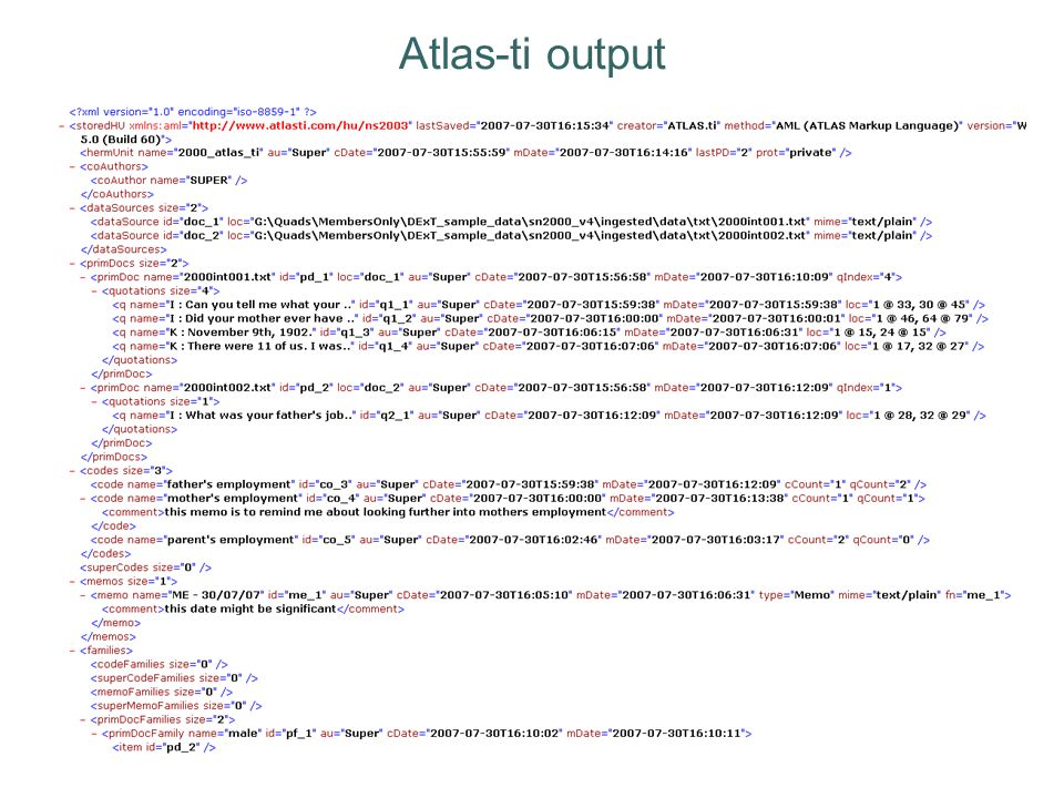 Atlas-ti output