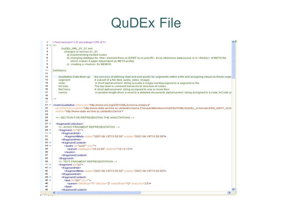 QuDEx File