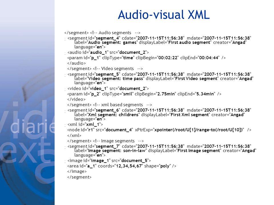 Audio-visual XML - - - -