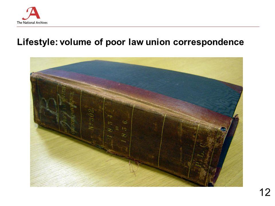 Lifestyle: volume of poor law union correspondence 12
