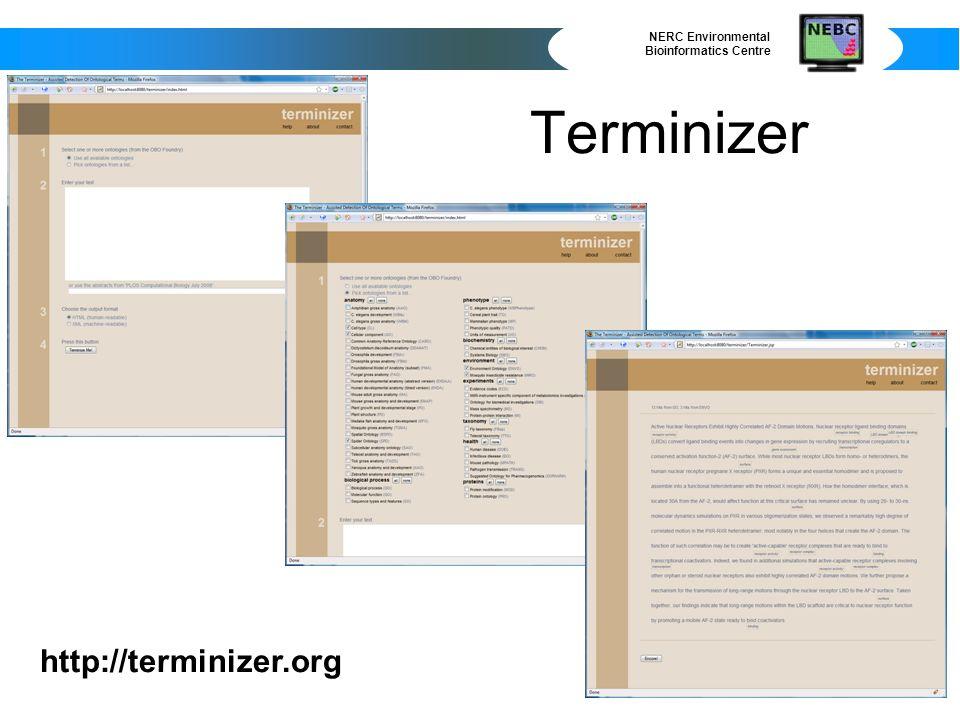 NERC Environmental Bioinformatics Centre Terminizer http://terminizer.org