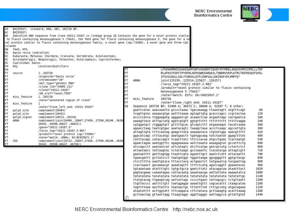 NERC Environmental Bioinformatics Centre Bioinvestigation Index and ISAcreator http://www.ebi.ac.uk/bioinvindex