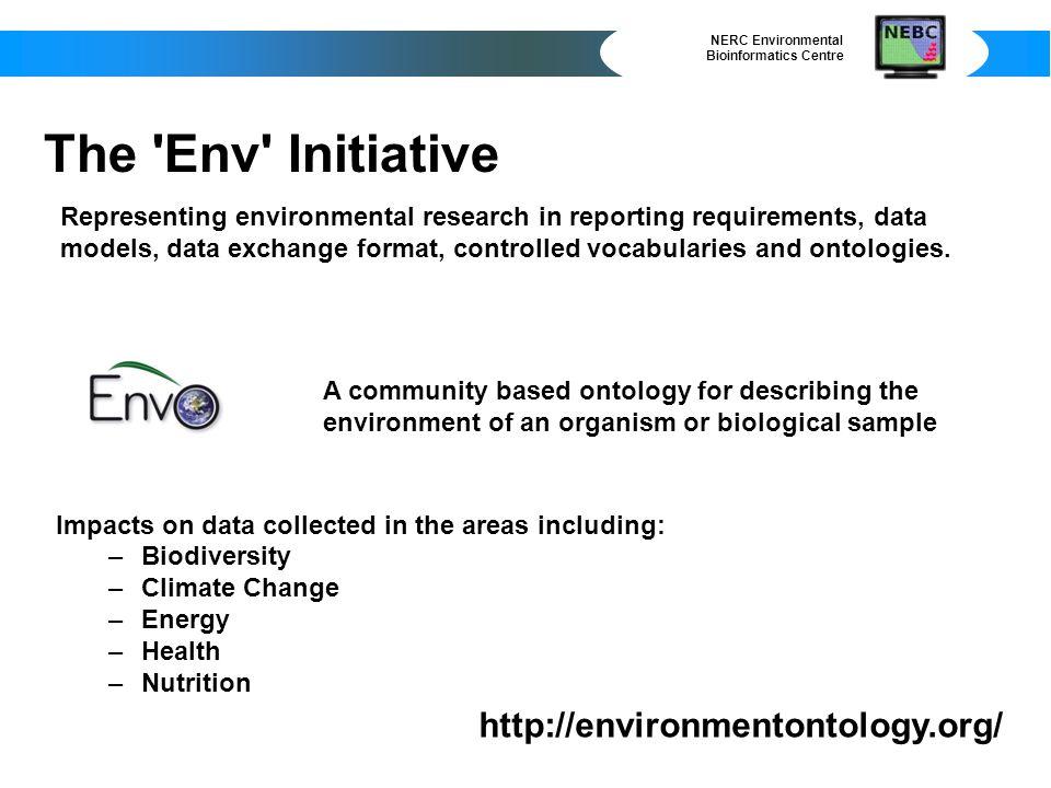 NERC Environmental Bioinformatics Centre http://nebc.nox.ac.uk/envbase