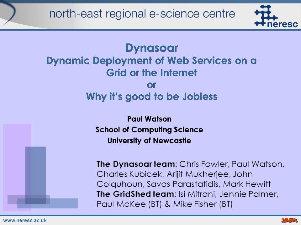 www.neresc.ac.uk 2 Why Jobs & Services.