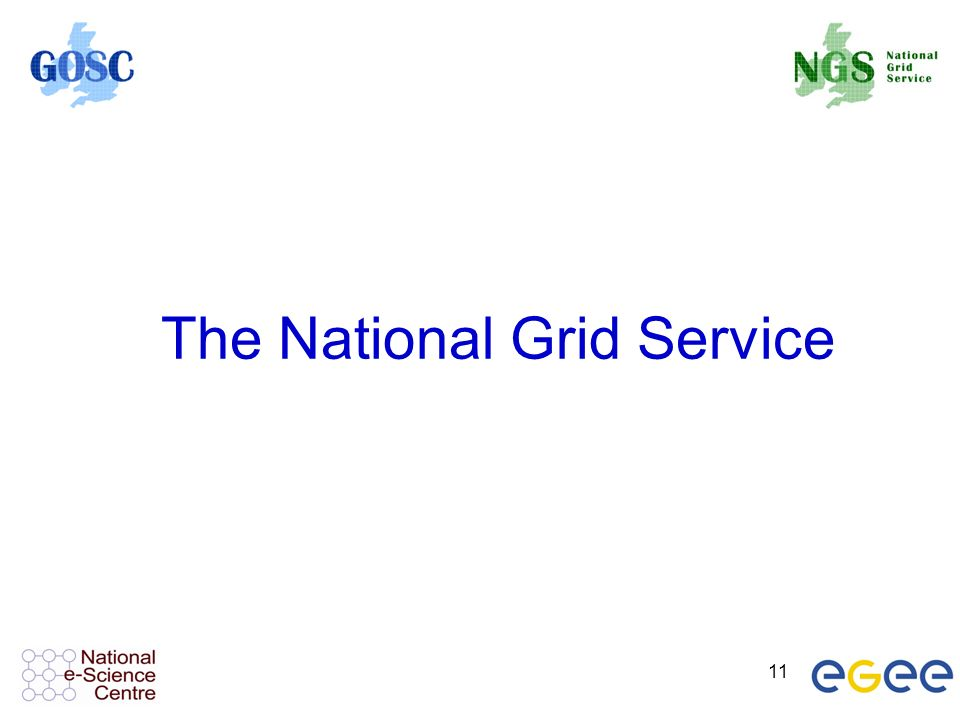 11 The National Grid Service