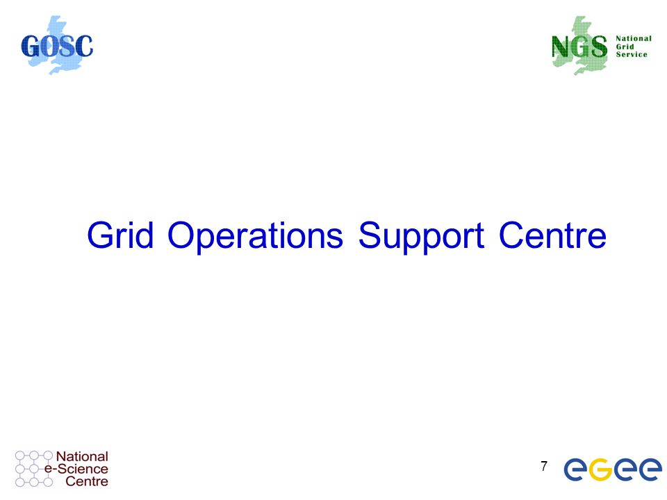 7 Grid Operations Support Centre
