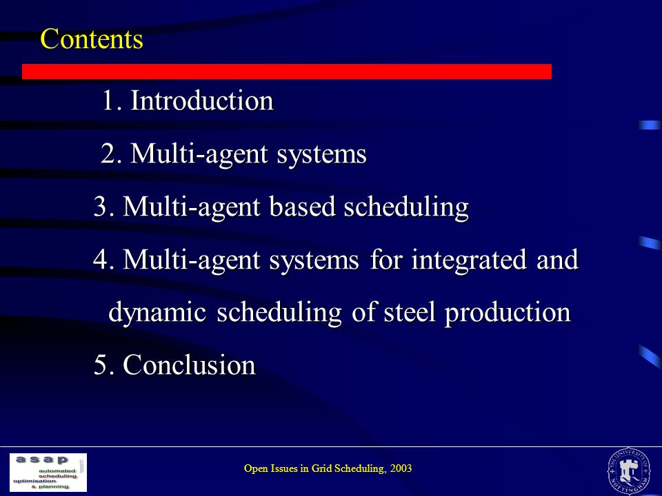 Contents 1.Introduction 1. Introduction 2. Multi-agent systems 2.
