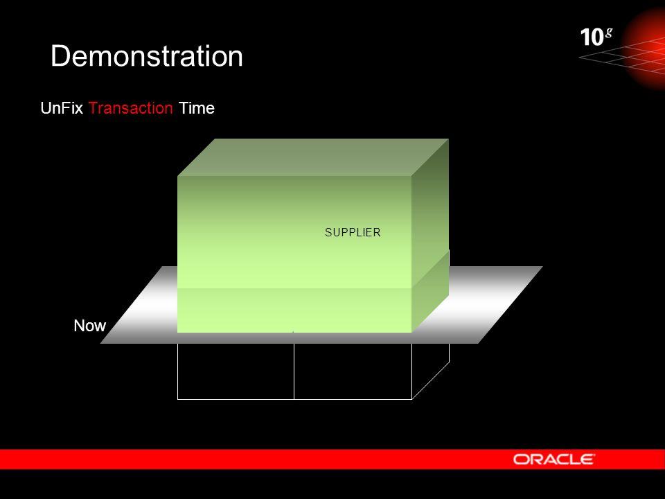 Demonstration SUPPLIER UnFix Transaction Time Now