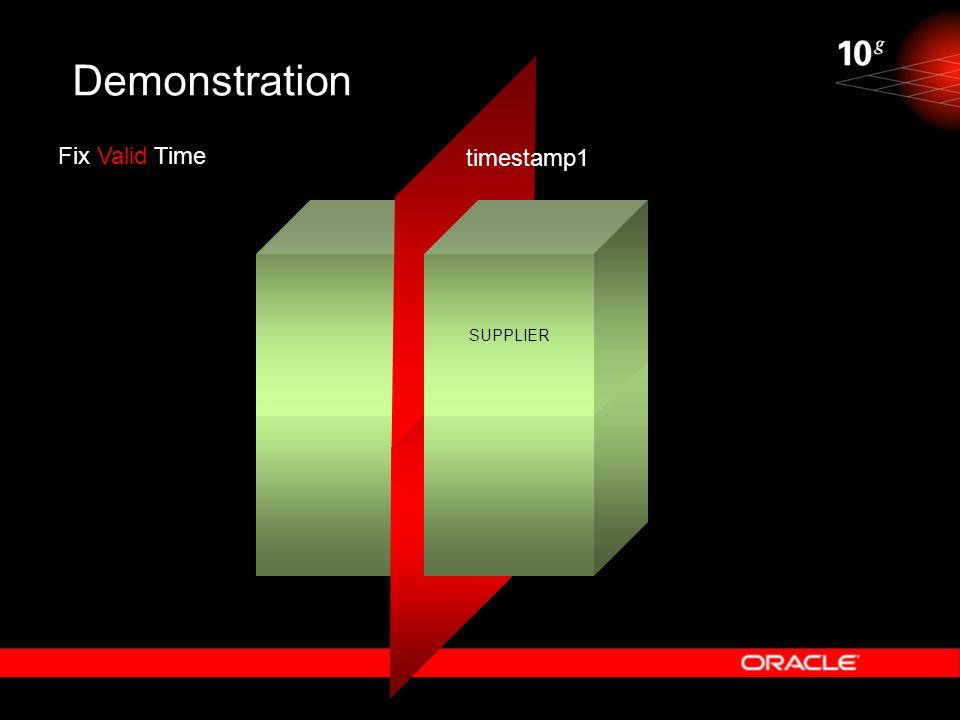 Demonstration SUPPLIER Fix Valid Time timestamp1