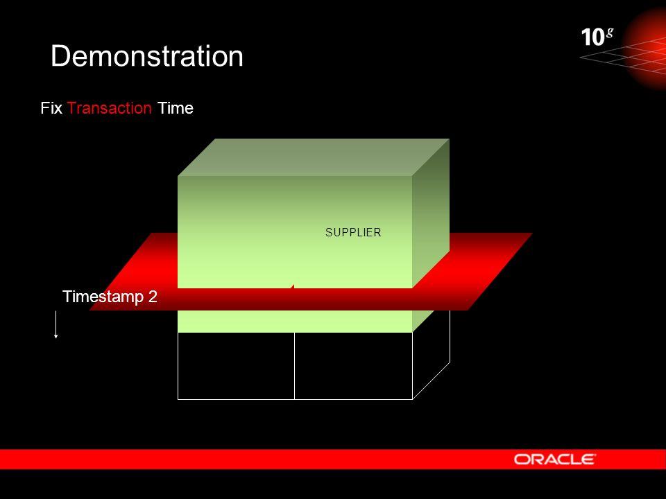 Demonstration SUPPLIER Fix Transaction Time Timestamp 2