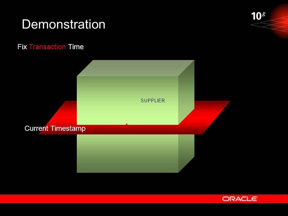 Demonstration SUPPLIER Fix Transaction Time Current Timestamp