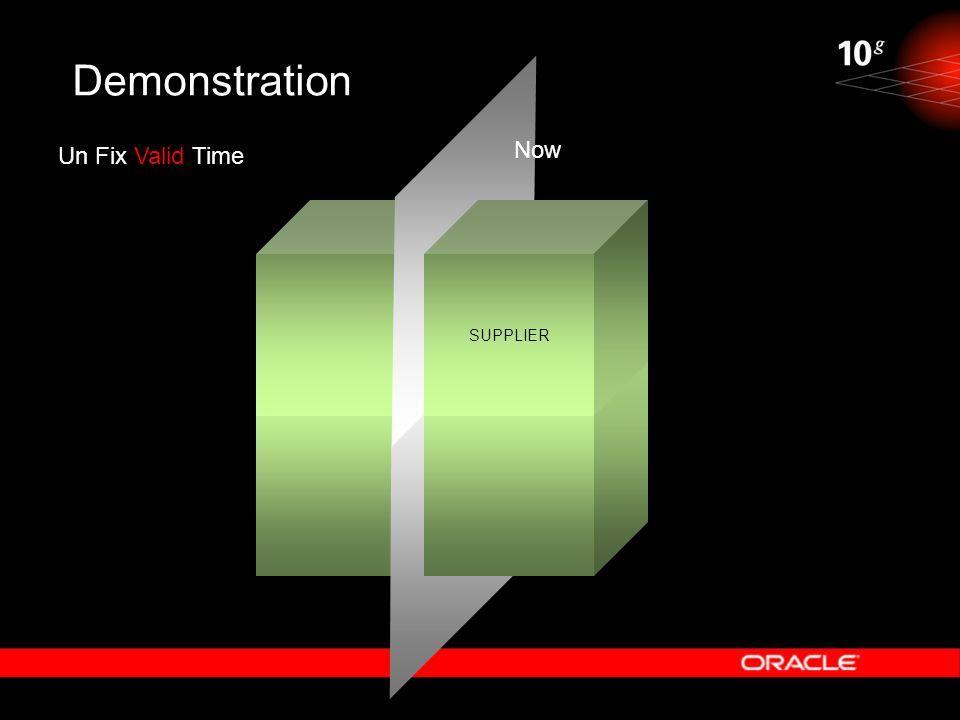 Demonstration Un Fix Valid Time SUPPLIER Now