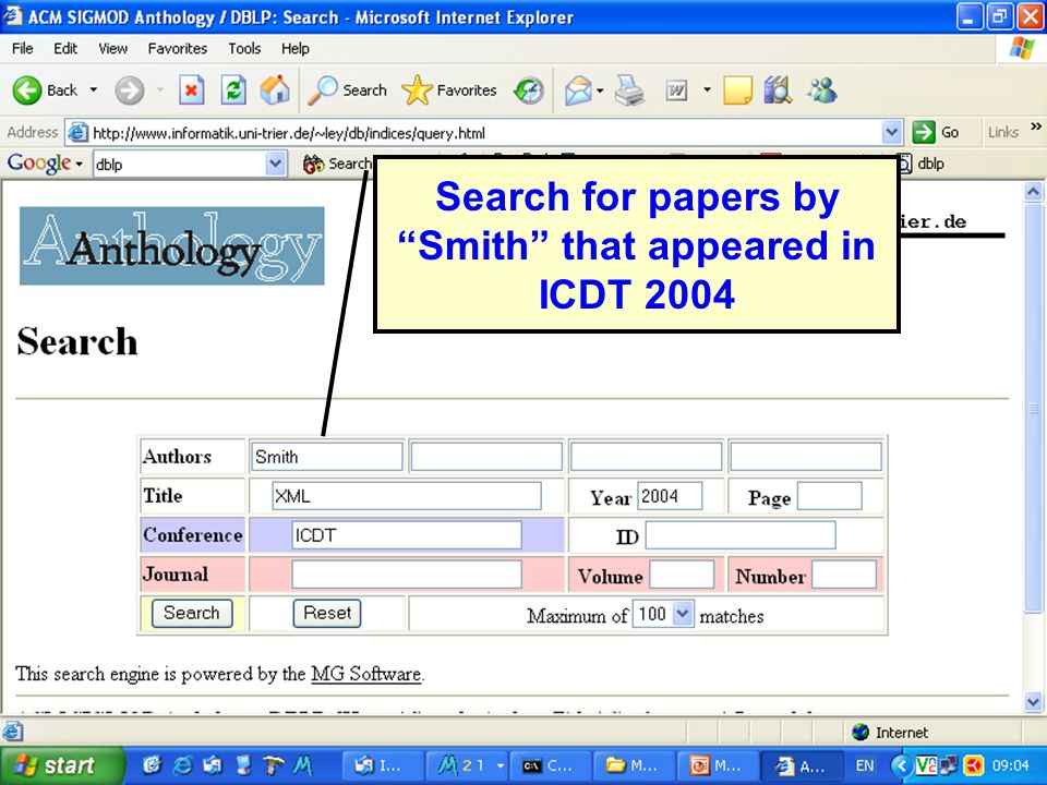 ICDT 2005 Search for papers by Smith that appeared in ICDT 2004