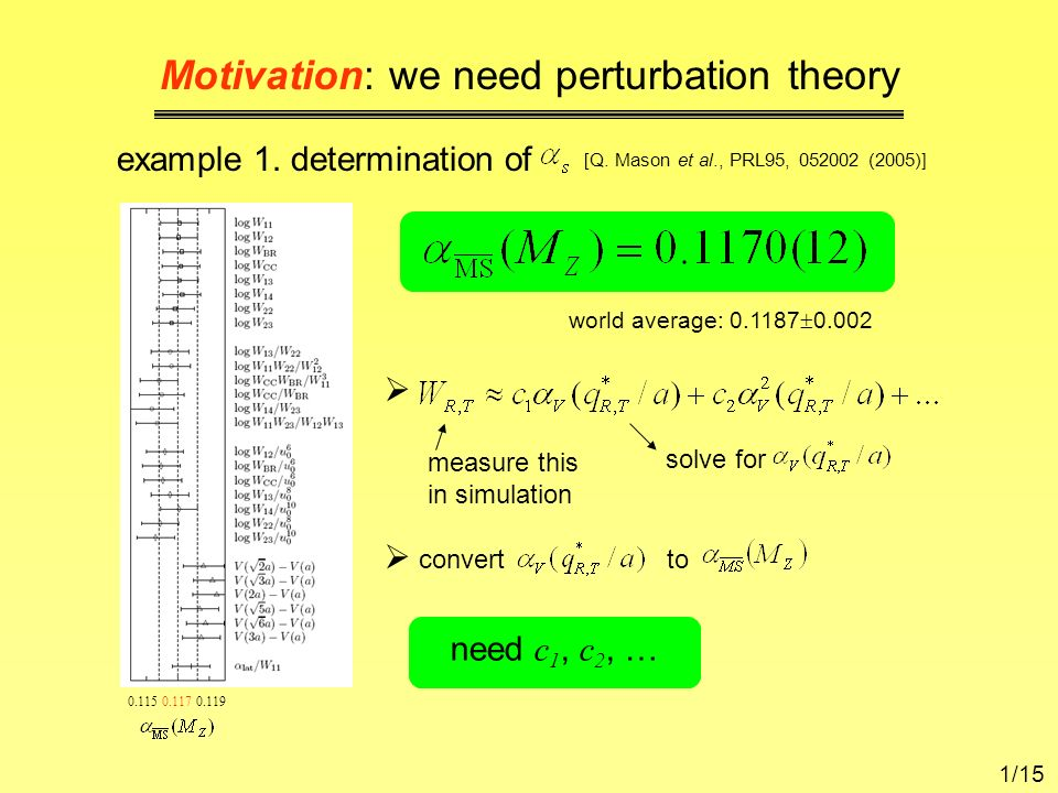 Motivation: we need perturbation theory example 1.