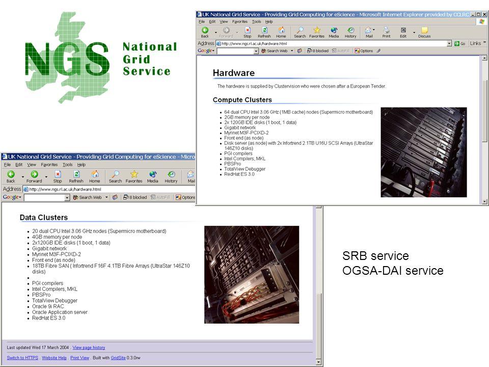 SRB service OGSA-DAI service