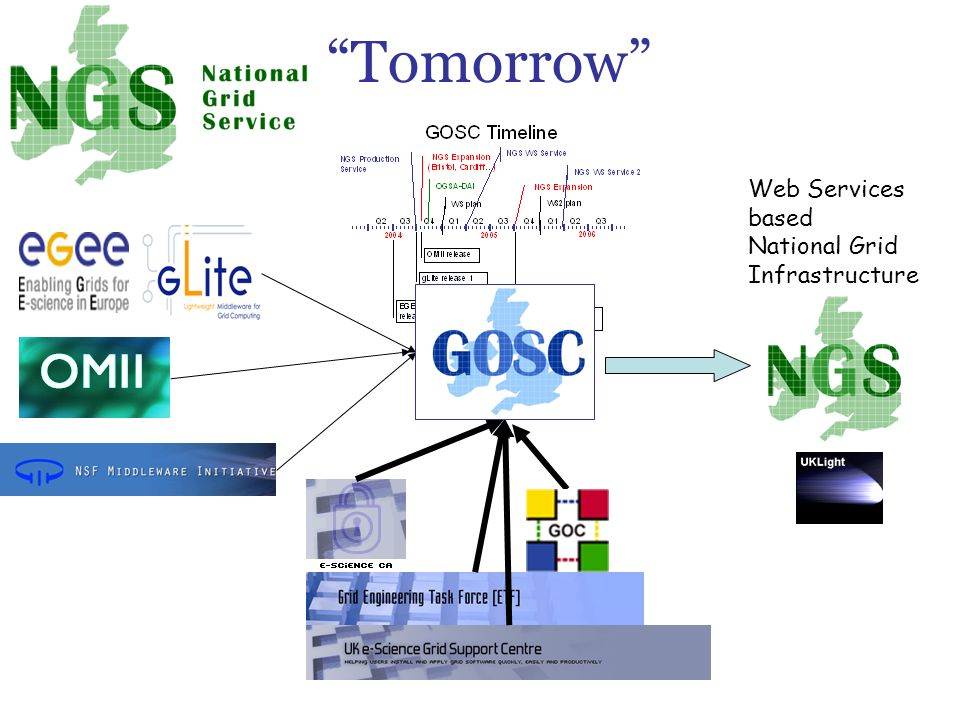 Tomorrow Web Services based National Grid Infrastructure