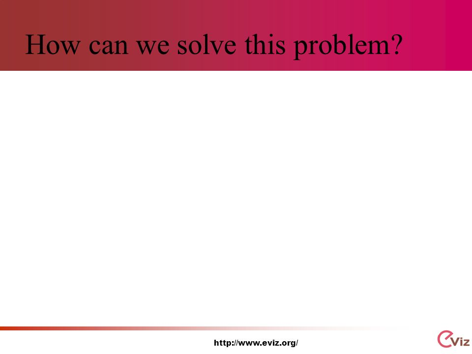http://www.eviz.org/ How can we solve this problem