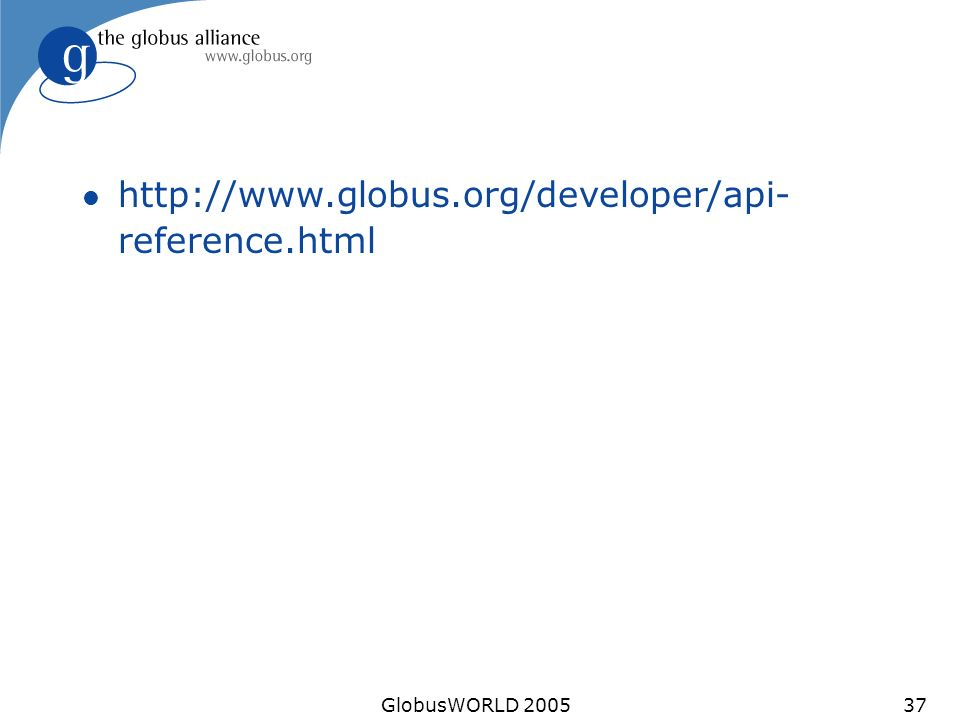 GlobusWORLD l   reference.html