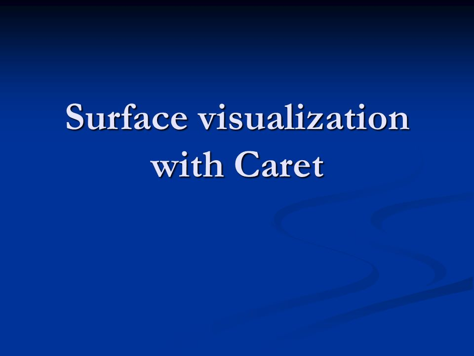 Surface visualization with Caret