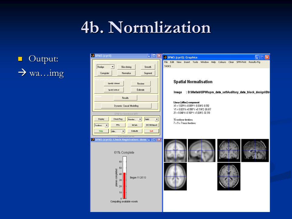 4b. Normlization Output: Output: wa…img wa…img
