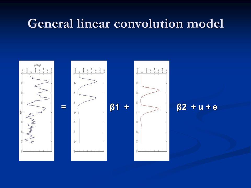 General linear convolution model = β1 + β2 + u + e