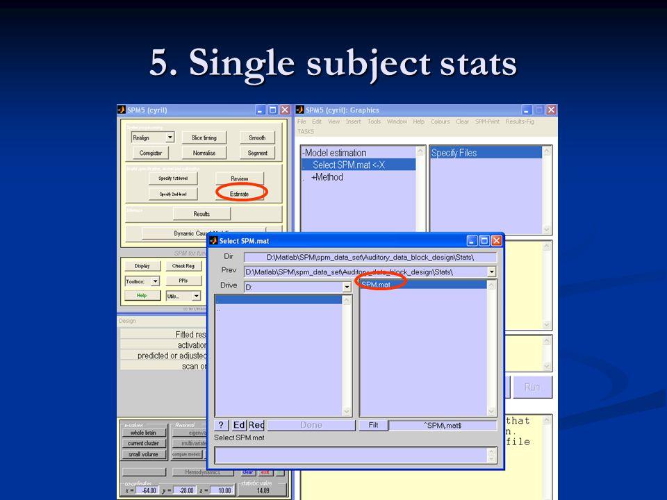 5. Single subject stats