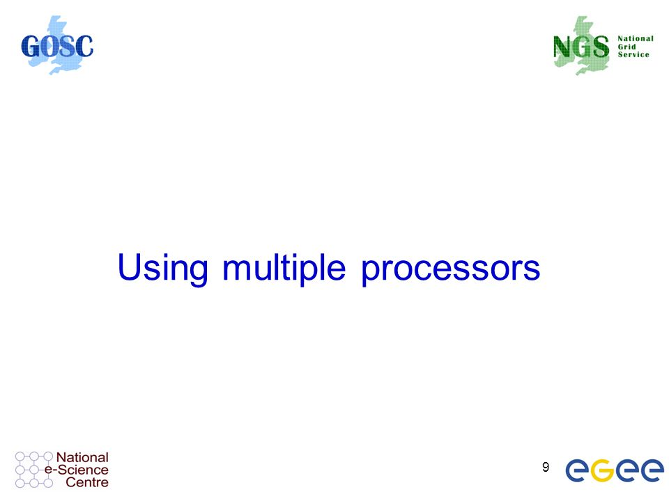 9 Using multiple processors