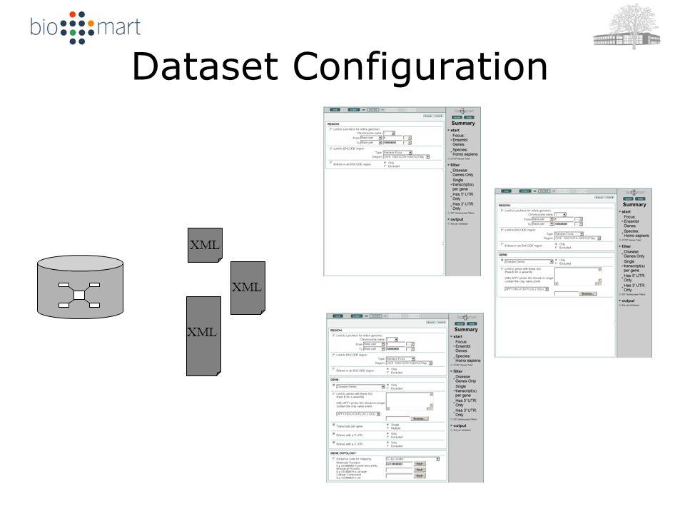 Dataset Configuration XML