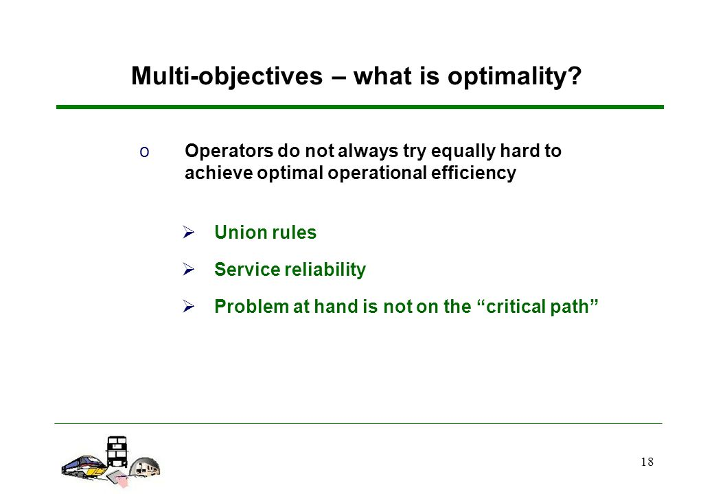 18 Multi-objectives – what is optimality.