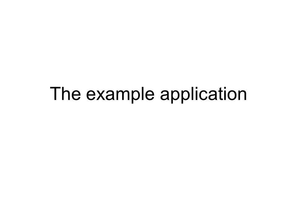 The example application