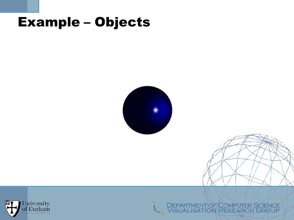 Example – Objects
