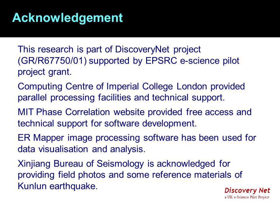 Discovery Net a UK e-Science Pilot Project 1.