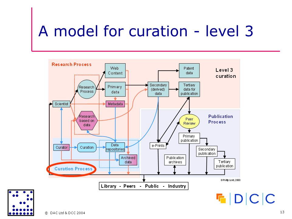 © DAC Ltd & DCC 2004 13 A model for curation - level 3