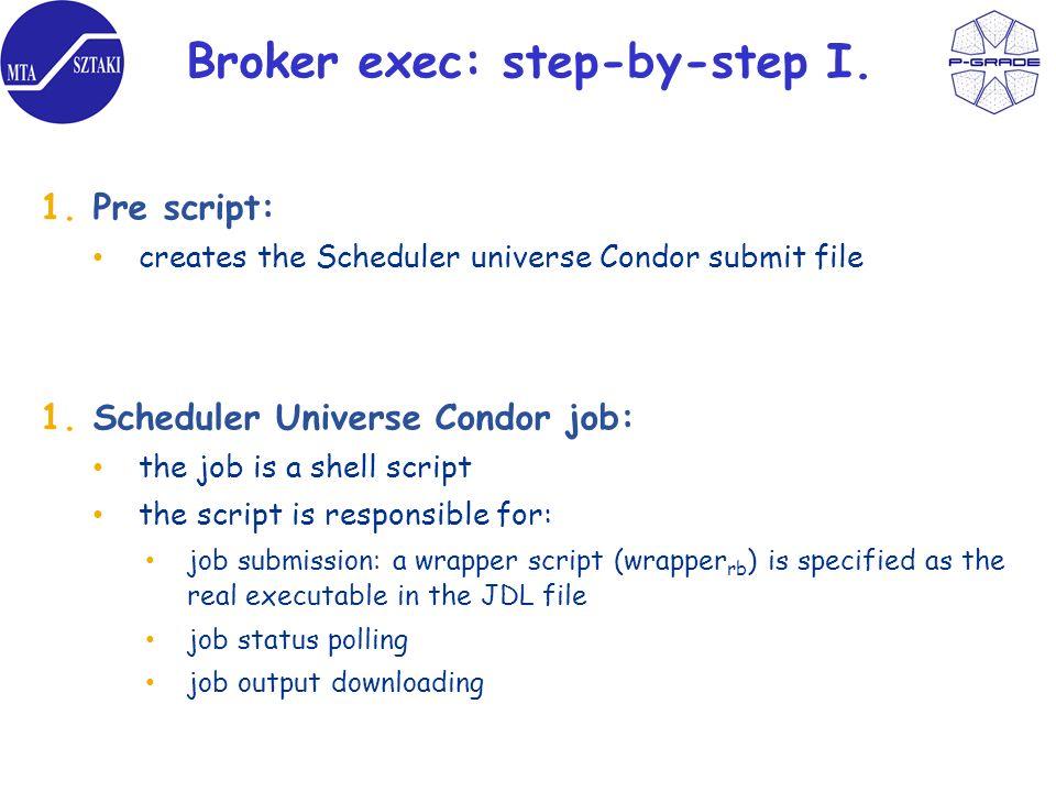 Broker exec: step-by-step I.