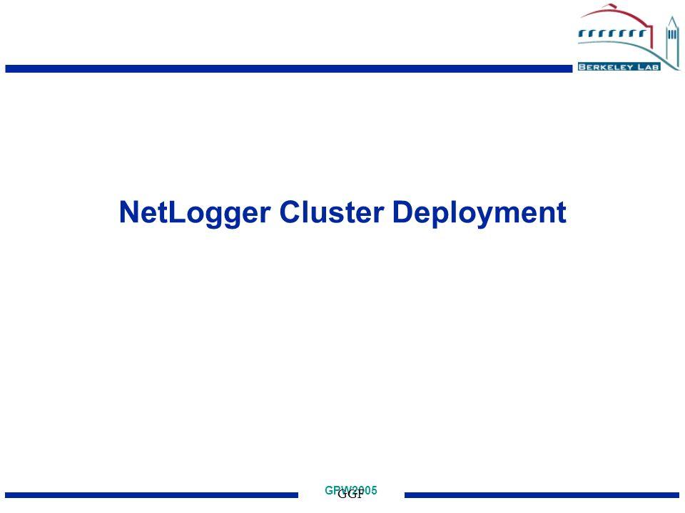 GPW2005 GGF NetLogger Cluster Deployment